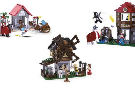 Legend Warrior set van 3 Te combineren met o.a. LEGO   Voor urenlang vermaak  Met windmolen, ridderhuis en ridderduel