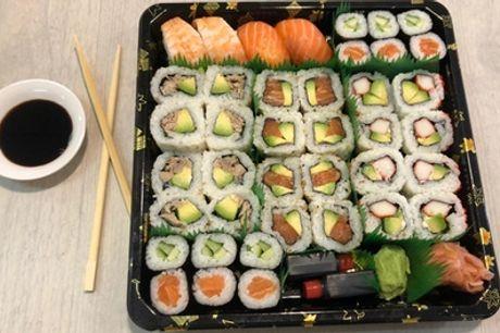 De Pijp: sushibox met 20, 40 of 60 stuks afhalen bij Ouuo Sushi aan het Marie Heinekenplein in Amsterdam
