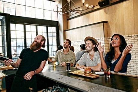 Sports Bar Eleven: drie glazen (speciaal)bier en drie soorten hapjes p.p. naar keuze, in hartje Den Haag