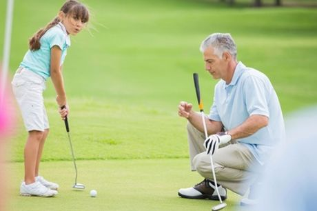 Leren golfen: ééndaagse GVB-cursus met theorie-examen via GVB Land voor 1-4 personen
