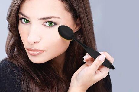10-delige ovale make-up kwasten set Niet alleen geschikt voor het aanbrengen van contouren. Ronde borstels. Perfect voor het mengen van foundation, blush, of poeder. Veel verschillende maten borstels. Borstels beschikken over eens stevige handgreep