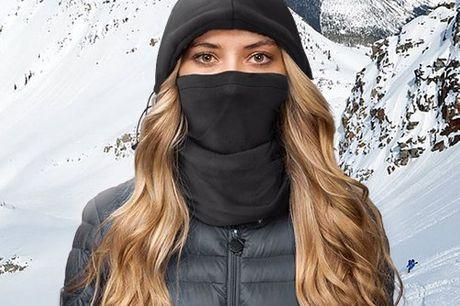 Warme 4-1 sjaal muts Nooit meer koude wind in je gezicht. Muts, sjaal, bivakmuts, of zelfs volledig bedekkend gezichtsmasker in een. Past de meeste volwassenen. Gemaakt van 100% polyester. Verkrijgbaar in 4 verschillende kleuren