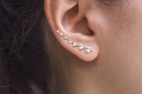 Trendy ear cuffs oorbellen Helemaal terug van weg geweest. Schitterend fashion accessoire. Met de ear cuff kun je eigenlijk alle kanten op. Sluiten perfect aan op de contour van het oor. Gemakkelijk in en uit te doen