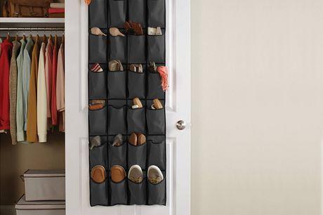 Slimme deur organizer Brengt orde in de chaos en bespaart plaats. 20 vakjes, met gigantisch veel opbergruimte. Ideaal voor studenten en mensen die klein wonen. Gemaakt van nonwoven textiel. Verkrijgbaar in vier kleuren.