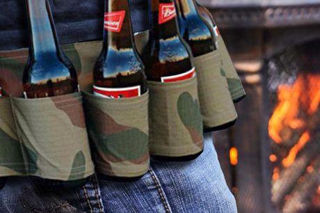 Outdoor Fles Fanny Pack Steel de show met deze fanypack.Nooit meer op en neer voor drankjes.