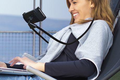 Smartphone neksteun Technosmart Bespaar jezelf de moeite van het vasthouden van je smartphone als je lekker ontspannen films wil kijken, onderweg google maps gebruikt of rustig de online krant wil lezen.