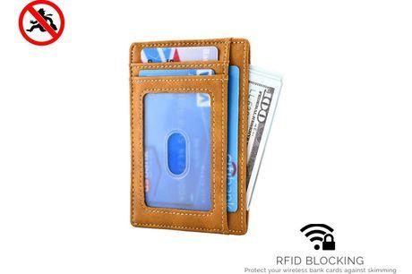 RFID card wallet - Brown
