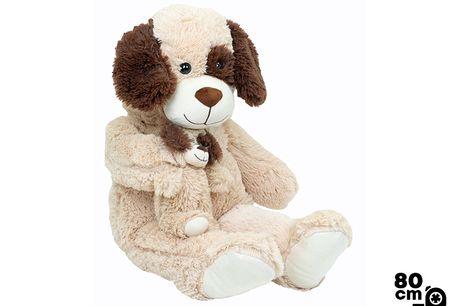 Knuffel Hond & Puppy - 80cm