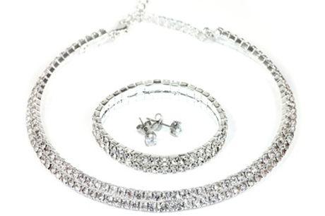1 of 2 sets ketting, armband en oorbellen gemaakt met Swarovski®-kristallen