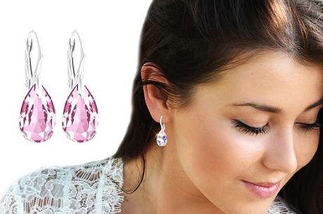 Ah! Jewlery-sterling zilveren oorbellen met Swarovski®-kristallen
