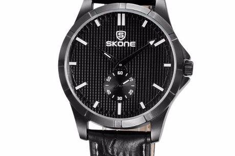Skone dark pleasure herenhorloge. Casual chique horloge. Pu-leren bandje. Life waterproof. Verkrijgbaar in 4 verschillende kleuren.