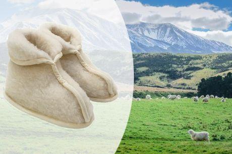 Hold fødderne varme med håndsyede kamikker i 100 % ren new zealandsk Jacquard-uld - inkl. fri fragt