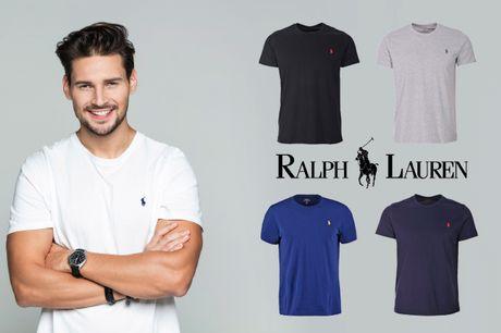 Klassiske t-shirts fra Ralph Lauren til manden. Vælg mellem flere flotte farver og størrelser - inkl. fri fragt
