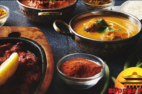 Lækre indiske & Nepalesiske menuer - Inviter på en dejlig middag og book bord på Buddha Palace. Vælg mellem 2 menuer, værdi kr. 320,- pr. person. Dealen er gældende ved køb af min. 2 værdibeviser.