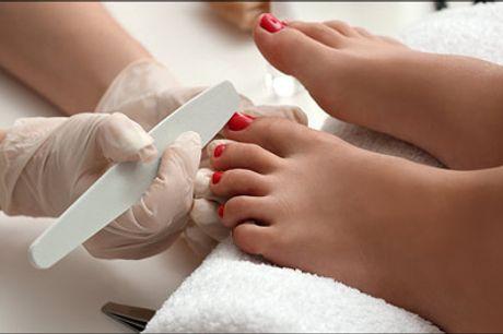 Pedicure Deluxe fodbehandling til DIG! - Få en lækker 60 minutters Pedicure Deluxe fodbehandling hos May Secrets Clinic, normalpris kr. 850,-