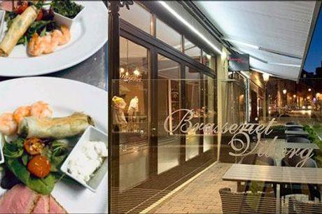 Velkommen hos Brasseriet Viborg - Den hyggelige restaurant og cafe i charmerende omgivelser ved Nytorv! - Tapastallerken for 1 person hos Brasseriet Viborg, værdi kr. 118,-