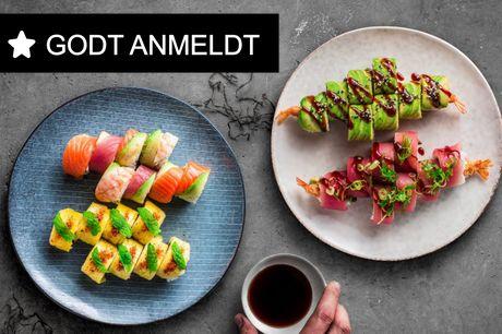 Spis med 33%. Bluefin: Innovativt fusionskøkken - pikante sushi hapsere, grillspyd og friske gin cocktails.