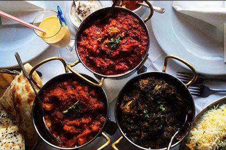 Prøv den lækre indiske mad på Østerbro - Med denne deal får du den populære MAHARAJA STYLE MENU for 2 personer hos Indian Maharaja Østerbro, værdi kr. 760,-
