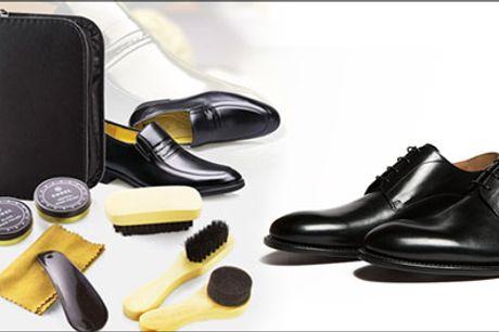 Lækkert skopudsesæt - køb det her! - Få et lækkert pudsesæt til dine lædersko forhandlet fra Shoppio, værdi kr. 299,-