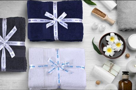 Mega lækre håndklæder i 100% bomuld! - Håndklæder i bomuld forhandlet fra Bed & Bath Textile, vælg ml. 3-6 stk. samt 3 flotte farver, værdi op til kr. 999,-