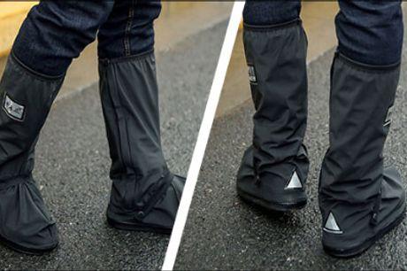 Vandtætte og inkl. refleks! - 1 par vandtætte skoovertræk forhandlet fra Shoppio, normalværdi kr. 249,-