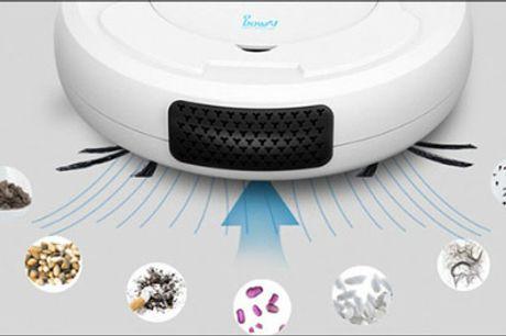 Støjsvag og effektiv! - 1 stk. robotstøvsuger forhandlet fra The 99 inspirations, værdi kr. 1149,-