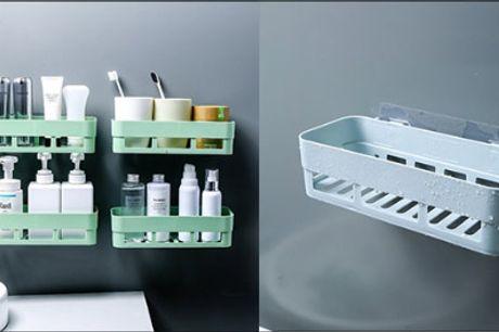 Få mere plads med en opbevaringshylde! - 1 stk. opbevaringshylde fra Shoppio, vælg ml. flere farver, værdi kr. 199,-