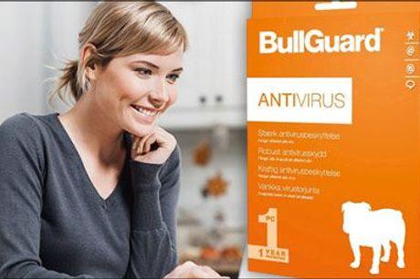 Få den bedst mulige beskyttelse! - BullGuard Antivirus 2019 - 1 År 1 Bruger fra Geekd, værdi kr. 199,-