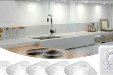 Stilfuld, praktisk og frem for alt let belysning! - Trådløse LED-spotlys inkl. fjernbetjening fra The 99 inspirations, vælg ml. 2 tilbud, værdi op til kr. 839,-