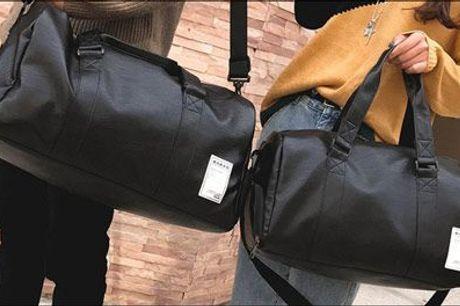 En uundværlig del af din træning! - 1 stk. sportstaske i PU-læder fra Shoppio, værdi kr. 469,-