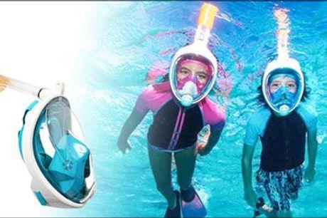 Udforsk verdenen under havets overflade! - 1 stk. snorkelmaske fra Shoppio, værdi kr. 499,-