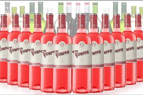 Få leveret 12 flasker skøn spansk vin fra det spanske delikatessefirma San Jamón - 12 flasker Guerra Rosado Bierzo inkl. fragt, værdi kr. 1176,-