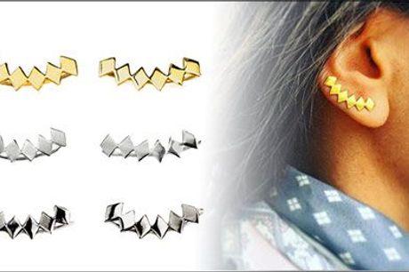 De flotteste accessories! - Rhombic øreringe fra Mai Copenhagen, værdi kr. 629,-