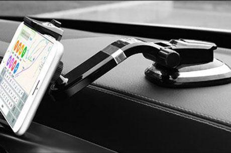 Kør sikkert og fuldt ud koncentreret - eller få max afslapning når du ser film :) - Smart mobilholder til bil eller bord, inkl. fragt, værdi kr. 499,-