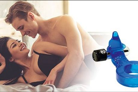 Få større og længere nydelse under sex ♥ - Dolphin Penisring fra Darkrose, inkl. fragt, værdi kr. 220,-