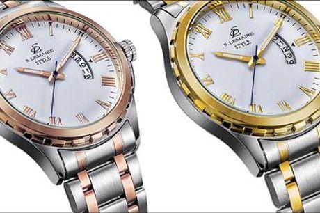 Et lækkert ur til armen ... og endda med 77% rabat! - Herreur forhandlet fra Watches4you, værdi kr. 1299,-