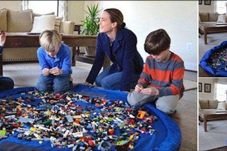 Gør det nemt at holde styr på børnenes legetøj! - Opbevaringstaske til legetøj fra Try Us ApS, værdi kr. 494,-