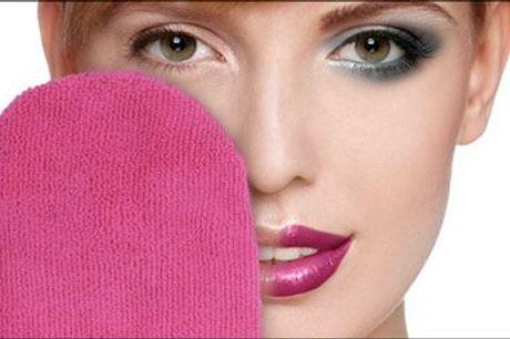 Gør din daglige hudplejerutine MAGISK! - Make-up fjerner handske forhandlet fra Ze-thing.com, værdi kr. 148,-