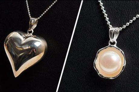 Skal der nye smykker i smykkeskrinet? - Kæde med vedhæng, vælg ml. flere, fra Beautidesign.dk, værdi op til kr. 1498,-