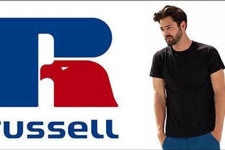 MUST HAVE til alle skønne mænd! - 10 stk. ensfarvede kortærmede Russell t-shirts fra Houseofhansen.dk, værdi kr. 990,-