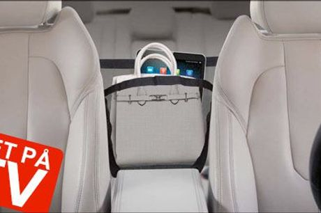 Nu kan du ha' det hele ET STED i bilen! - Opbevaring til bilen forhandlet fra Altigaver.dk, værdi kr. 264,-
