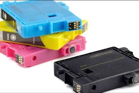 Slut med at løbe tør for blæk når du skal printe..  - Blækpatroner kompatible med Brother, Canon, HP og Epson printere, inkl. fragt, værdi op til kr. 425,-