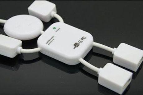 Tilslut flere enheder på en gang med MR. USB - Mr. USB med 4 porte, inklusiv fragt, værdi kr. 204