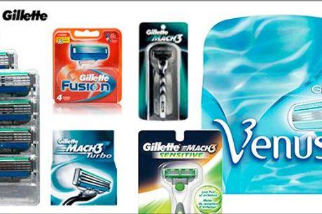 Slut med at stå og mangle barberblade...  - Barberblade - originale Mach3, Fusion eller Venus, værdi op til kr. 1249,-