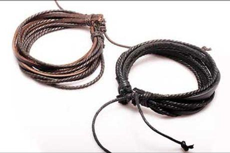 Super trendy og justerbar armbånd i kalveskind, vælg ml. 1-2 stk. - Læderarmbånd forhandlet fra Watches4you.dk, normaværdi op til 398,-