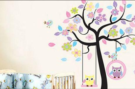 Nu kan du forvandle børneværelset med skøn wallsticker - Wallsticker til børneværelset, inkl. fragt, værdi kr. 349