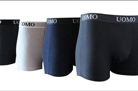 Smarte italiensk designede boxershorts i ass. farver! - Uomo boxershorts forhandlet fra Houseandgardenshop.dk, værdi 1069,-