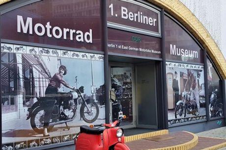 Eintritt für 1 bis 4 Personen inkl. Fotoerlaubnis im 1. Berliner DDR Motorrad Museum (26% sparen*)