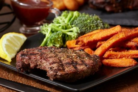 8oz Rump Steak Meal and Drink for Up to Four at Brook & Barter