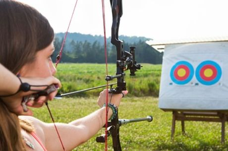 1-Hour Archery, Crossbow, Air Rifle Shooting or Axe Throwing Experience at Blyth Activity Centre